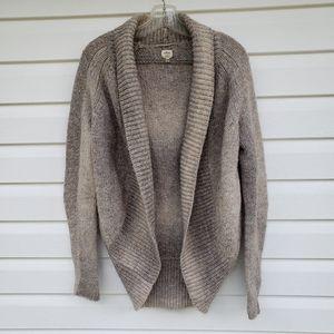 Wilfred Cocoon Cardigan Sweater Medium Alpaca Italian Wool Beige